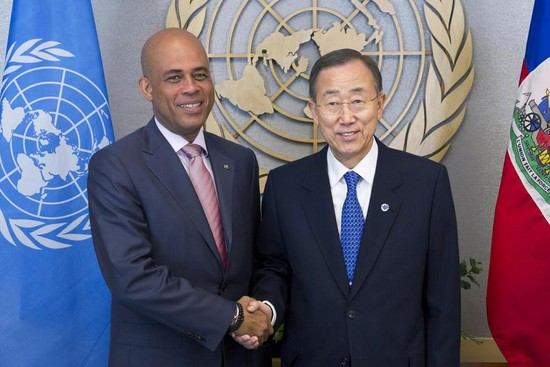 Readout of the Secretary-General's meeting with H.E. Mr. Michel Joseph Martelly, President of the Republic of Haiti, on the margins of the 67th General Assembly