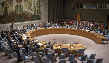 A wide view of the Security Council during a meeting. UN Photo/Loey Felipe