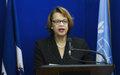 Communiqué de presse : La Représentante spéciale du Secrétaire général (RSSG) et chef de la MINUSTAH, Sandra Honoré condamne fermement les actes de violence perpétrés hier dans l'enceinte du Parlement haïtien
