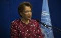 Conférence de presse de la Représentante Spéciale du Secrétaire général des Nations Unies en Haïti et cheffe de la MINUSTAH