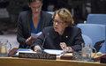 La Représentante spéciale du Secrétaire général, Sandra Honoré,  informe le Conseil de sécurité sur la situation en Haiti