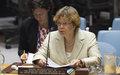 La représentante spéciale du Secrétaire général, Sandra Honoré informe le conseil de sécurité sur la situation en Haïti