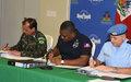 Haiti / Elections: Signature du plan intégré de sécurisation des élections