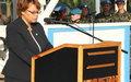 Allocution de la RSSG Sandra Honoré à l'occasion de la Journée Internationale des Casques Bleus des Nations Unies