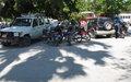 Cayes : bétonnage de la cour du commissariat